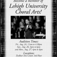 Lehigh University Choral Arts Auditions | Music Department