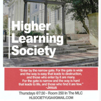 Higher Learning Society Weekly Meeting