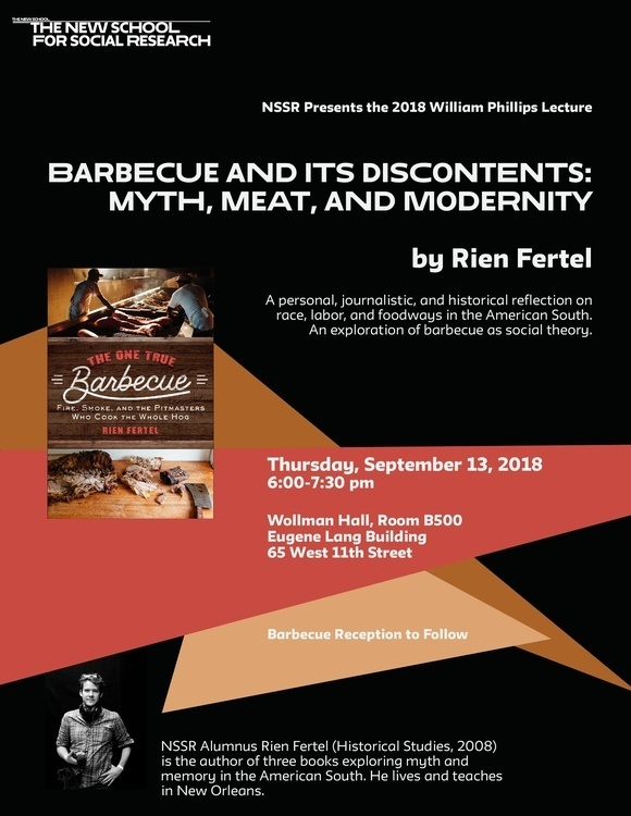 Barbecue and Its Discontents: Myth, Meat, and Modernity with Rien Fertel
