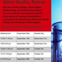 Science + Art + Design Water Quality Workshop
