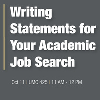 Writing Statements for Your Academic Job Search