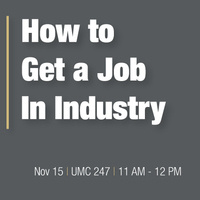 How to Get a Job in Industry (Networking)