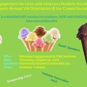 Veterans Orientation and Ice Cream Social