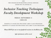 COHS/CHSS Faculty Development Workshop