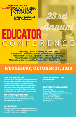 23rd Annual Nursing and Health Professions Educator Conference at University Center