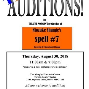 AUDITIONS for Ntozake Shange's spell #7