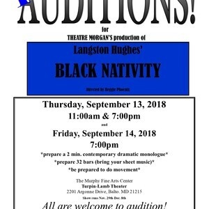 AUDITIONS for Langston Hughes' BLACK NATIVITY!