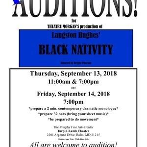 AUDITIONS for Langston Hughes' BLACK NATIVITY!