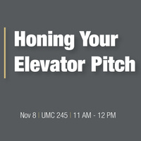 Honing Your Elevator Pitch