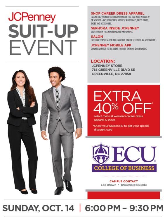 Jc Penny Suit Up Event Fall 2018 East Carolina University