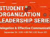 Student Organization Leadership Series