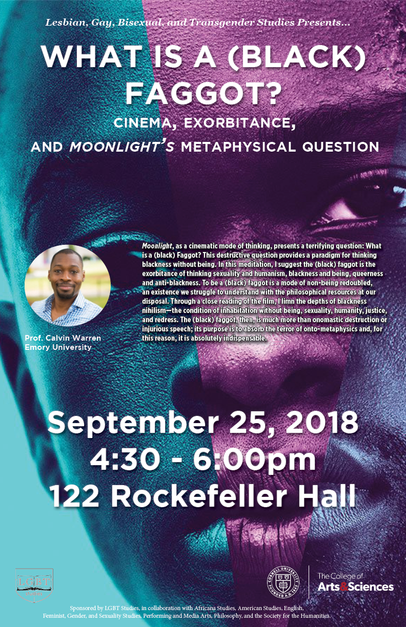 What is a (Black) Faggot? Cinema, Exorbitance, and Moonlight's Metaphysical Question
