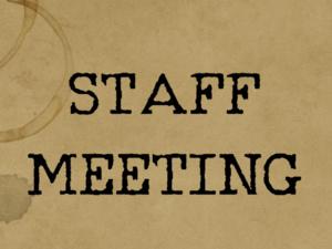 General Staff Meeting