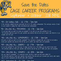 CASE Career Workshops: CALLING ALL FRESHMEN!