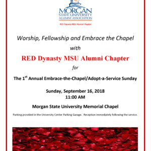 RED Dynasty MSU Alumni Chapter Embrace-the-Chapel/Adopt-a-Service Sunday