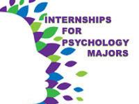 Internships for Psychology Majors