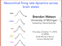 NBB Seminar Speaker: Brendon Watson, University of Michigan