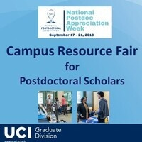 UCI Campus Resource Fair for Postdocs