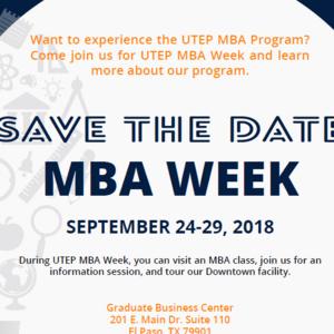 UTEP MBA Week