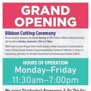 CBEIS Food Kiosk Ribbon Cutting
