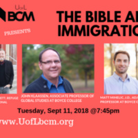 The Bible and Immigration panel discussion