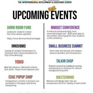 The Entrepreneurial Development and Assistance Center (EDAC) Upcoming Fall Events