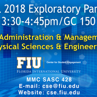 Administration & Management and Physical Sciences & Engineering Exploratory Professional Panel