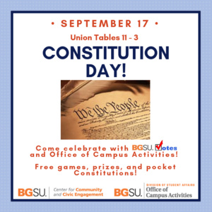 constitution day bowling green state university
