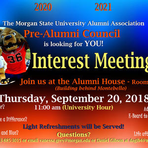 Pre Alumni Council Interest Meeting