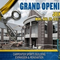 Grand Opening Carpenter Sports Building