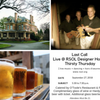RSOL Designer House Thirsty Thursday featuring Last Call