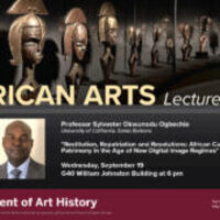 African Arts Lecture Series: