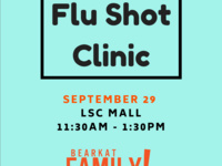 Flu Shot Clinic- Bearkat Family Weekend