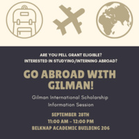 Go Abroad with Gilman!