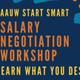 AAUW Start Smart Salary Negotiation Workshop