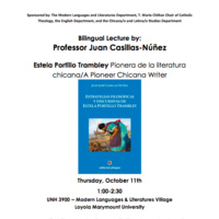 Bilingual Lecture by:  Professor Juan Casillas-Núñez