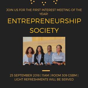 Entrepreneurship Society Meet and Greet