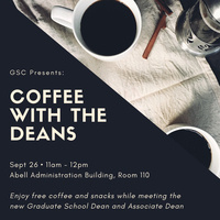 "Graduate Student ""Coffee with the Deans"""