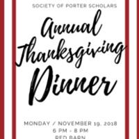 Porter Annual Thanksgiving Dinner