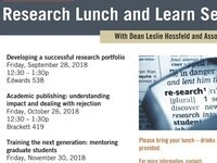CBSHS Research Lunch and Learn: Developing a Successful Research Portolio