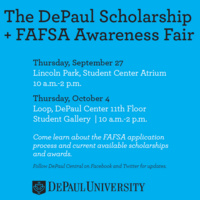 2018 DePaul Scholarship and FAFSA Awareness Fair