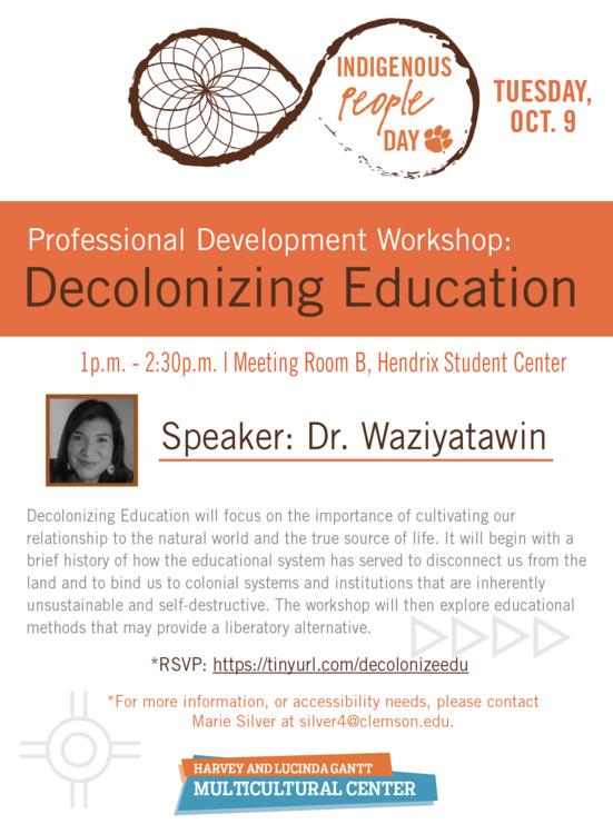 Indigenous Peoples Day Workshop: Decolonizing Education