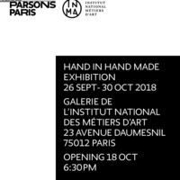 Parsons Paris x INMA Exhibition: HAND IN HAND MADE
