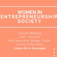 Women in Entrepreneurship Society Interest Event