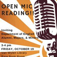 Hope College English Dept Alumni & Students Open Mic Reading