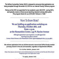 Humanities Center Faculty Fellowships: Application Workshop 10/18/18