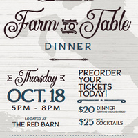 Farm to Table Dinner and Josh Smith Memorial Sustainability Award Ceremony