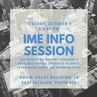 IME Honors Marketing Info Session