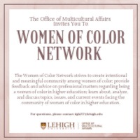 Women of Color Network   Multicultural Affairs