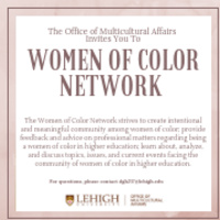 Women of Color Network Meeting | Multicultural Affairs